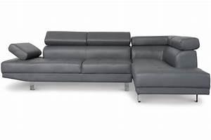 Canape Avec Tetiere : canap d 39 angle gauche gris avec t ti re relevable tilpa design sur sofactory ~ Teatrodelosmanantiales.com Idées de Décoration