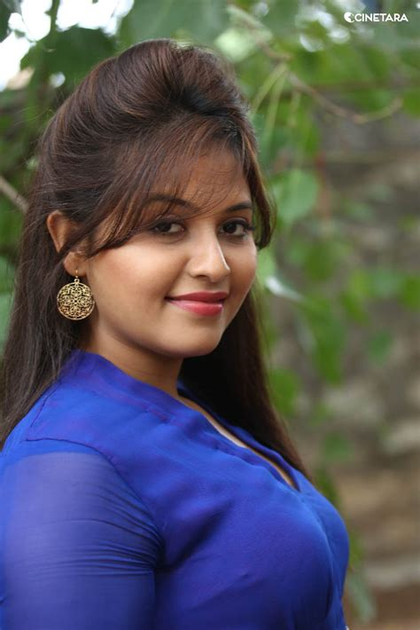anjali desi actress anjali hot side view  blue dress