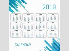 Modern Calendar 2019 template vector design Download