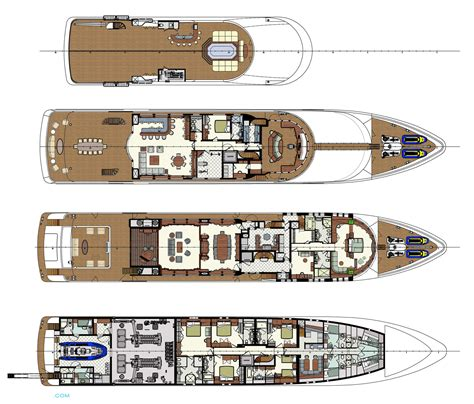 Yacht Plans by Skyfall Yacht Layout Yachts Motor