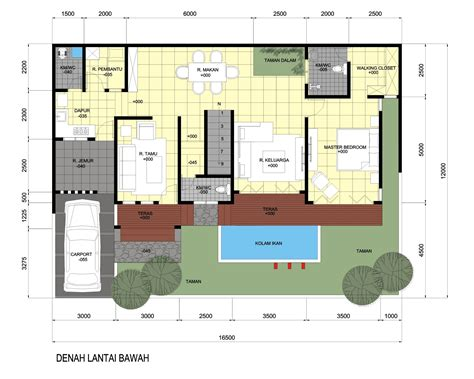 idesign arsitektur desain rumah  luas lahan