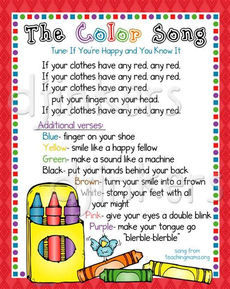 color songs for toddlers crayon clipart preschool learning pencil and in color