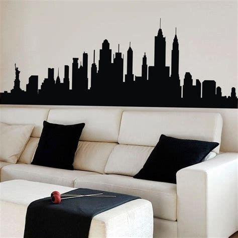 New York City Skyline Silhouette Wall Sticker Nyc Vinyl. Red And Black Living Room Set. Sectional Sofas Rooms To Go. Rooms For Rent In Harrisburg Pa. Kitchen Decors. Room Scanner. Elegant Dining Room. Garden Wedding Decorations. Metal Gate Wall Decor