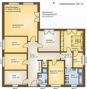Bungalow Grundrisse 4 Zimmer : winkelbungalow 136 14 einfamilienhaus neubau massivbau stein auf stein ~ Eleganceandgraceweddings.com Haus und Dekorationen