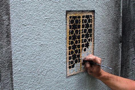 trompe loeil window  keyhole illusions   streets
