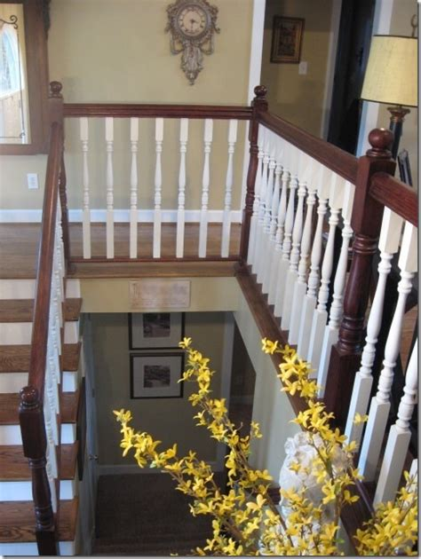 Mahogany Banister by Staining An Oak Banister Southern Hospitality