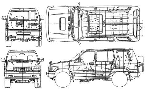 car blueprints chertezhi avtomobiley isuzu