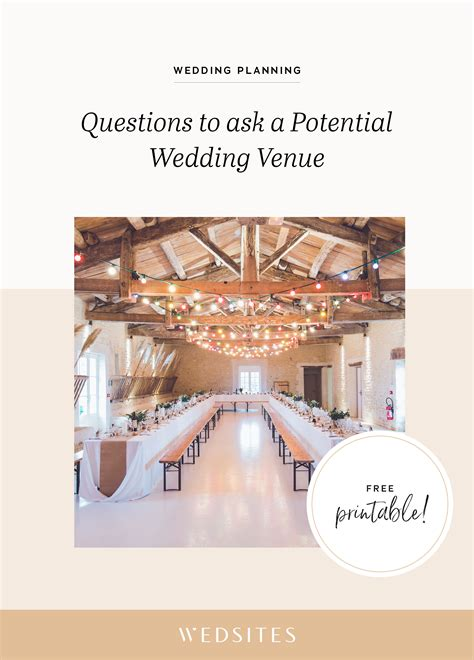 questions    potential wedding venue  signing