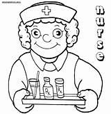 Nurse Coloring Medication Funny Drawing Hat Colorings Nurse5 Getdrawings sketch template