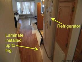 installing laminate flooring refrigerators