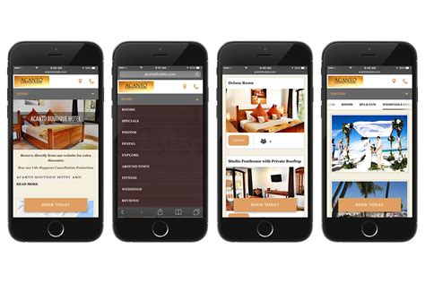 Mobile Website what a great mobile website for hotels looks like