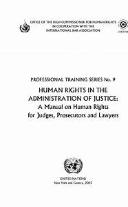 Human Rights In The Administration Of Justice  A Manual