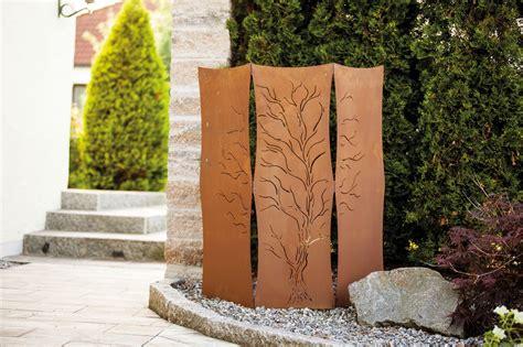 Sichtschutz Rost Garten by Garten Im Quadrat Garten Paravent Als Sichtschutz Rost