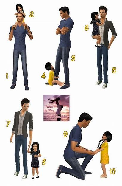 Dad Daughter Posebox Sims Boutique Imaginary Poses
