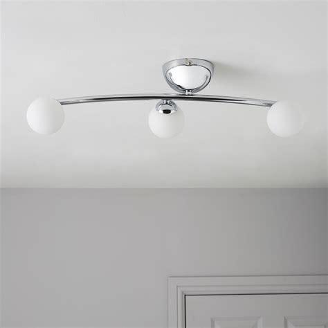 Cygnus Bubble Chrome effect 3 Lamp Ceiling light
