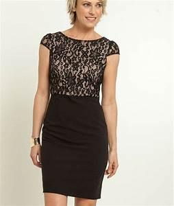 robe femme habille avec dentelle noir grain de malice With robe ou ensemble habillé