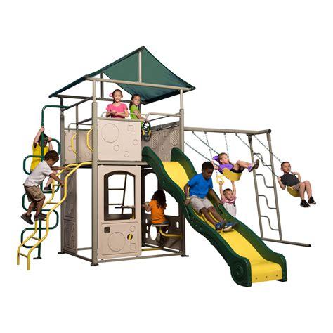 100 playground flooring lowes shop lifetime products monkey bar adventure swing set metal