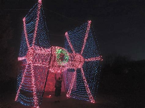 guy builds lifesize tie fighter christmas lights