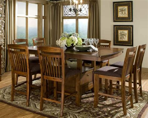 counter height dining set with storage table extension