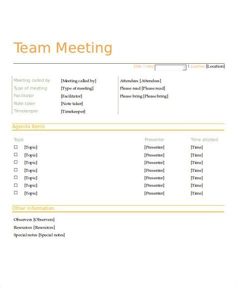 team meeting agenda template 10 meeting agenda sles free sle exle format free premium templates
