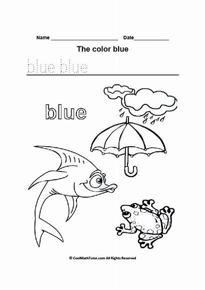 Coloring Worksheet Worksheets Kindergarten Colours Printable Colors