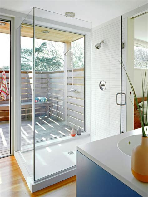 indoor outdoor shower houzz