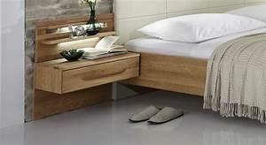 Bett Mit Nachttisch : eichen nachttisch z b als schwebende konsole morley ~ Frokenaadalensverden.com Haus und Dekorationen