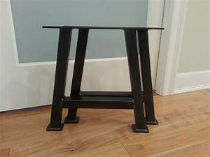 Inspirations metal bench legs sofa leg wrought iron for Wood chair legs home depot