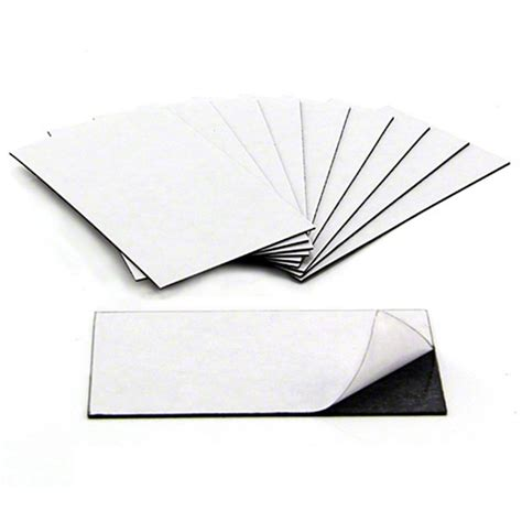 business card magnets adhesive front magnetic