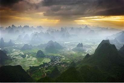 Yangshuo China Guilin Weather Village Valley Yulong