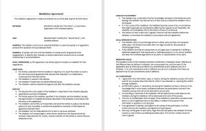agreement templates    sample agreements