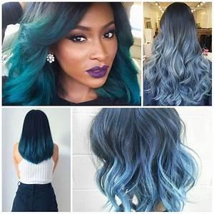 Blaue Haare Ombre : 1001 ideen f r ombre blond frisuren top trends f r den sommer bunte haare ombre hair ~ Frokenaadalensverden.com Haus und Dekorationen