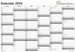 Jahreskalender 2019 A4 : excel kalender 2019 download ~ Kayakingforconservation.com Haus und Dekorationen