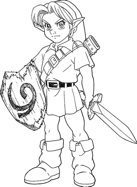 zelda ocarina  time coloring pages coloring page