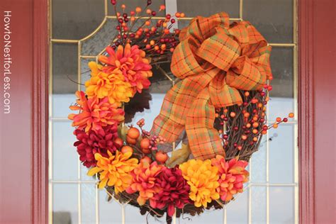 fall wreaths for front door fall wreath time how to nest for less