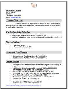 exle template of an excellent mba finance marketing resume sle for freshers with great