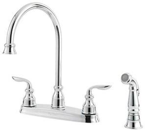 Price Pfister F 0364 CBC Avalon 4 Hole Double Handle