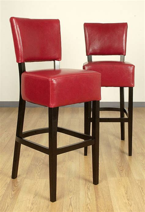 wasatch burnt leather barstools set of 2 design