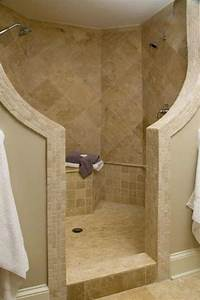 compact and accessible bathroom ideas with walk in showers With walk in shower no door