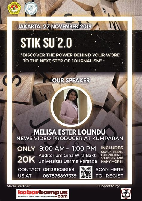 seminar jurnalistik swara unsada  bersama melisa ester