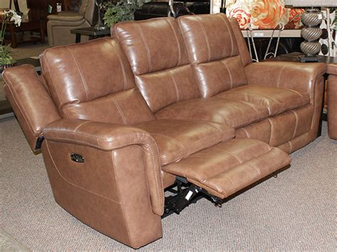 light brown leather sectional light brown leather power motion sofa bailey s