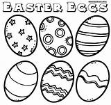 Easter Coloring Eggs Pages Egg Colorings sketch template