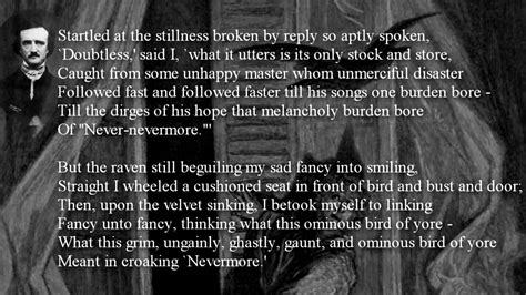 Poem  The Raven By Edgar Allan Poe Withtext Youtube