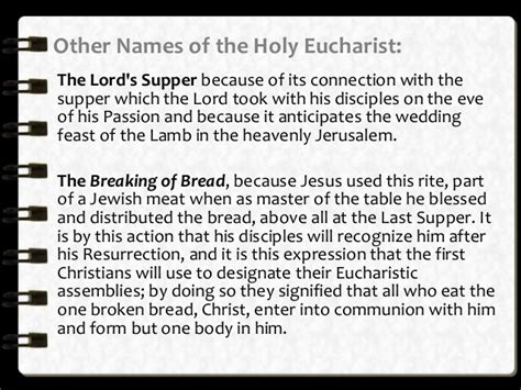 Other Names For by Holy Eucharist