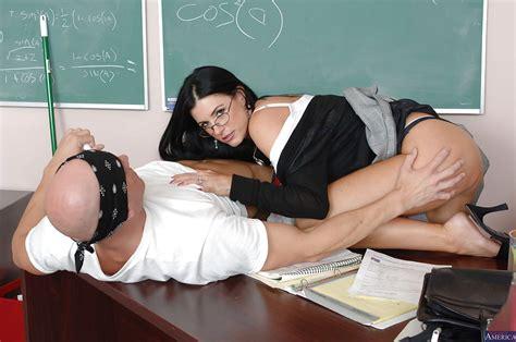 milf teacher in sexy glasses india summer enjoys hardcore sex