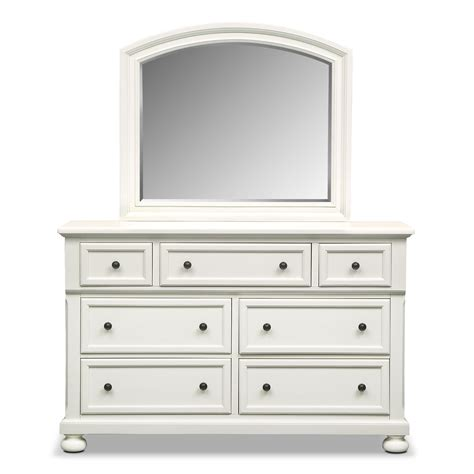 white dresser furniture hanover dresser and mirror white value city furniture