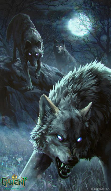 Beautiful Anime Wolf Wallpaper by Artstation Rabid Wolf Gwent Card Podedworna