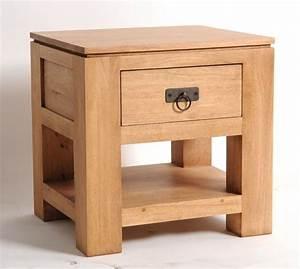 Meuble De Chevet : meuble de chevet h v a massif naturel 1 tiroir 1 tag re mobilier ~ Teatrodelosmanantiales.com Idées de Décoration