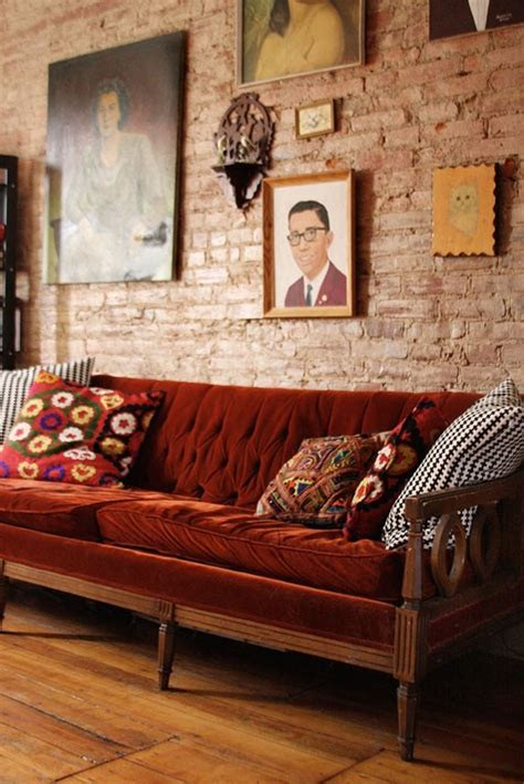 brick exposed wall walls cool faux couch sofa living room rusty decor bricks kitchen digsdigs furniture modern would sofas interiors