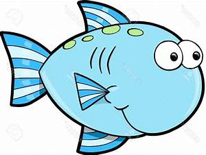 HD Silly Cute Fish Ocean Vector Illustration Stock Cartoon ...